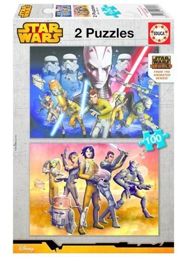 Star Wars Educa Çocuk Puzzle Karton 2X100 Star Wars Rebels Renkli